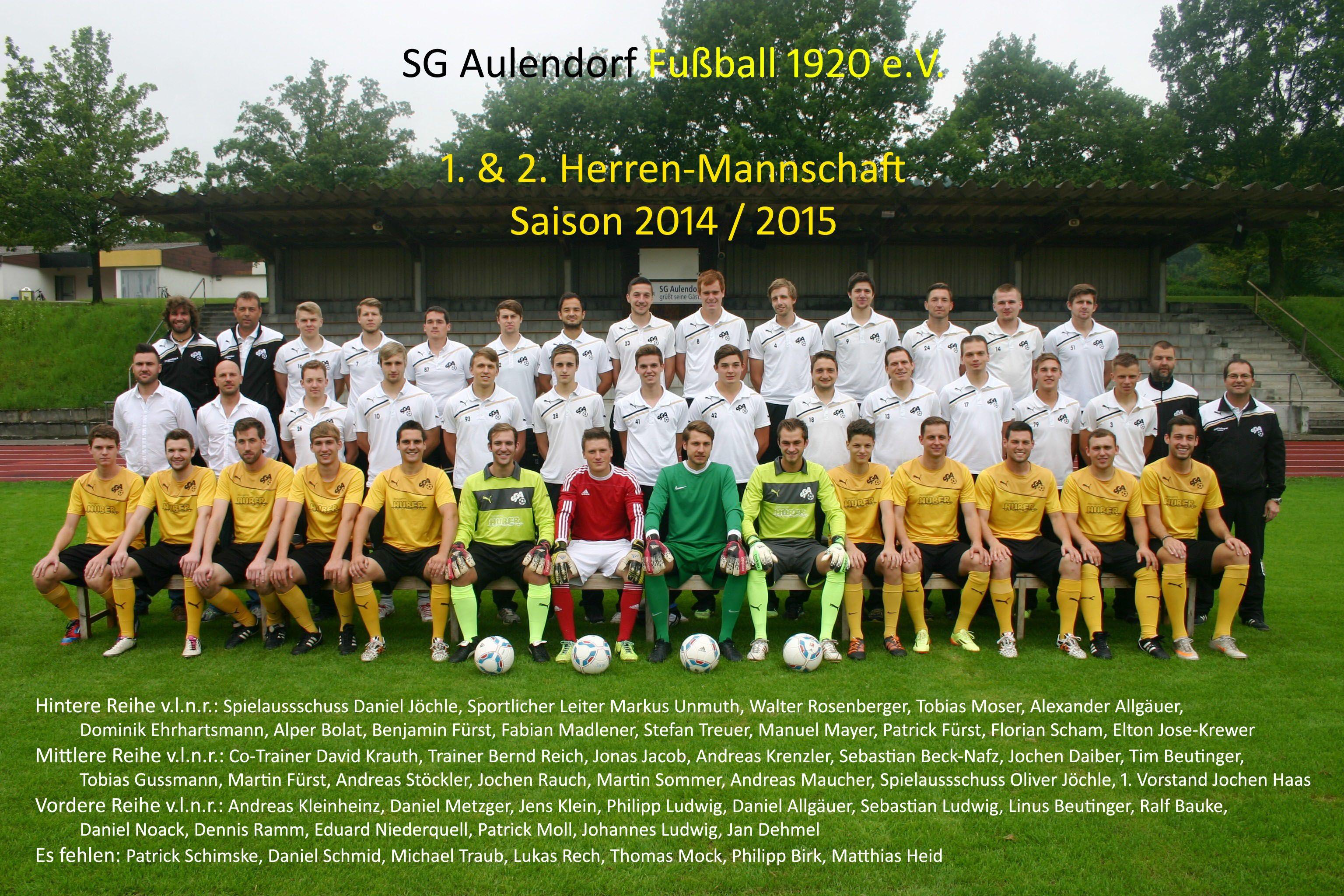 Mannschaftsfoto 2014-15 - editiert