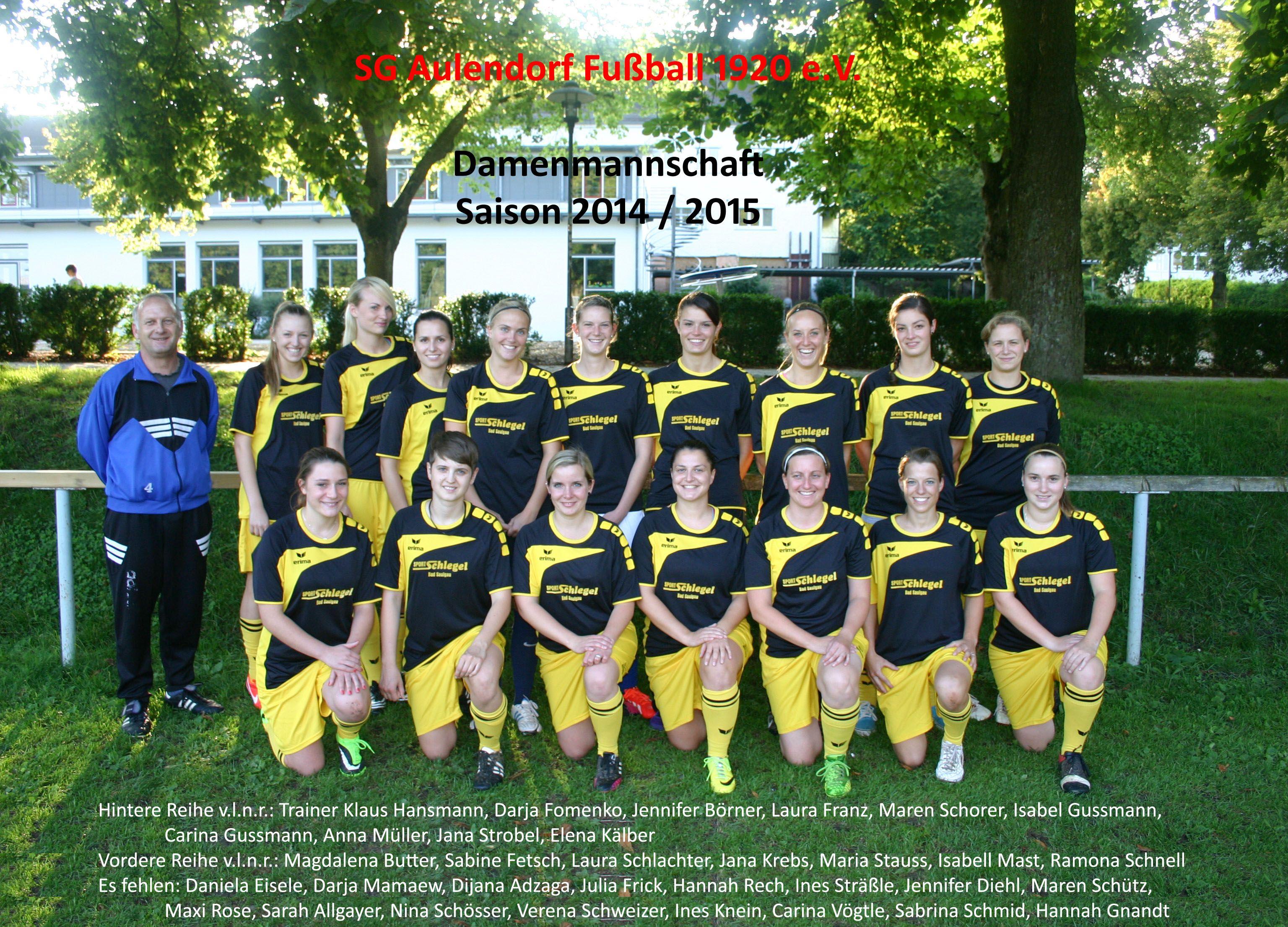 Damenmannschaft 2014-2015 - editiert (2)